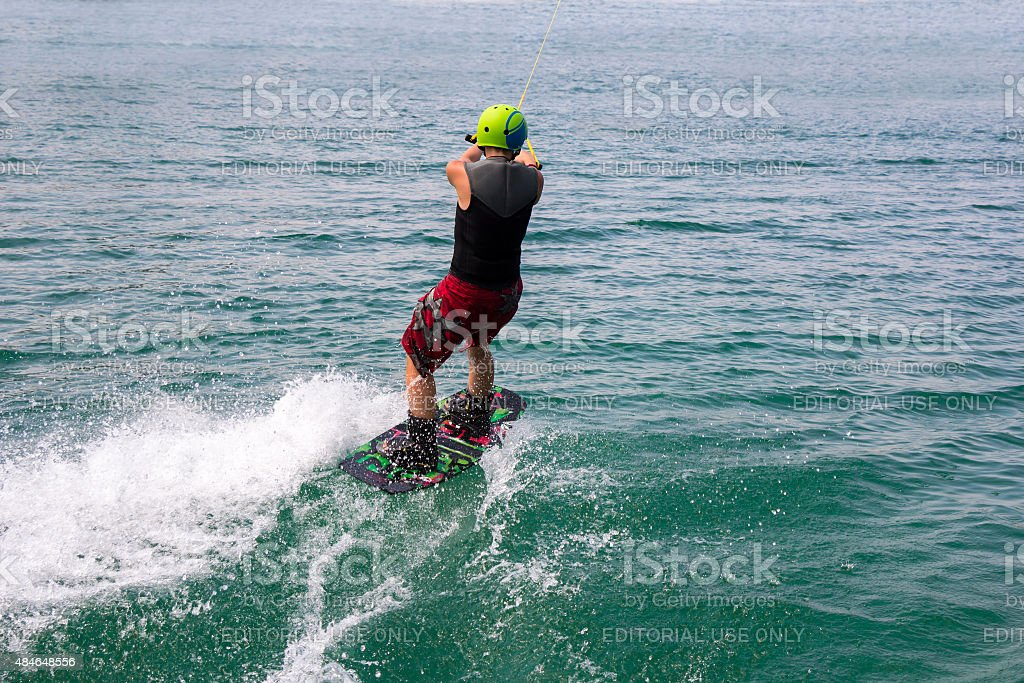 Wakeboarder stock photo
