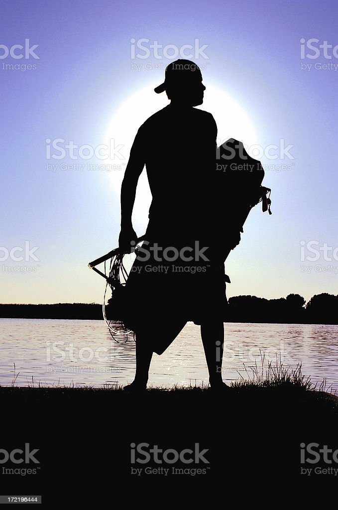 Wakeboarder Silhouette royalty-free stock photo