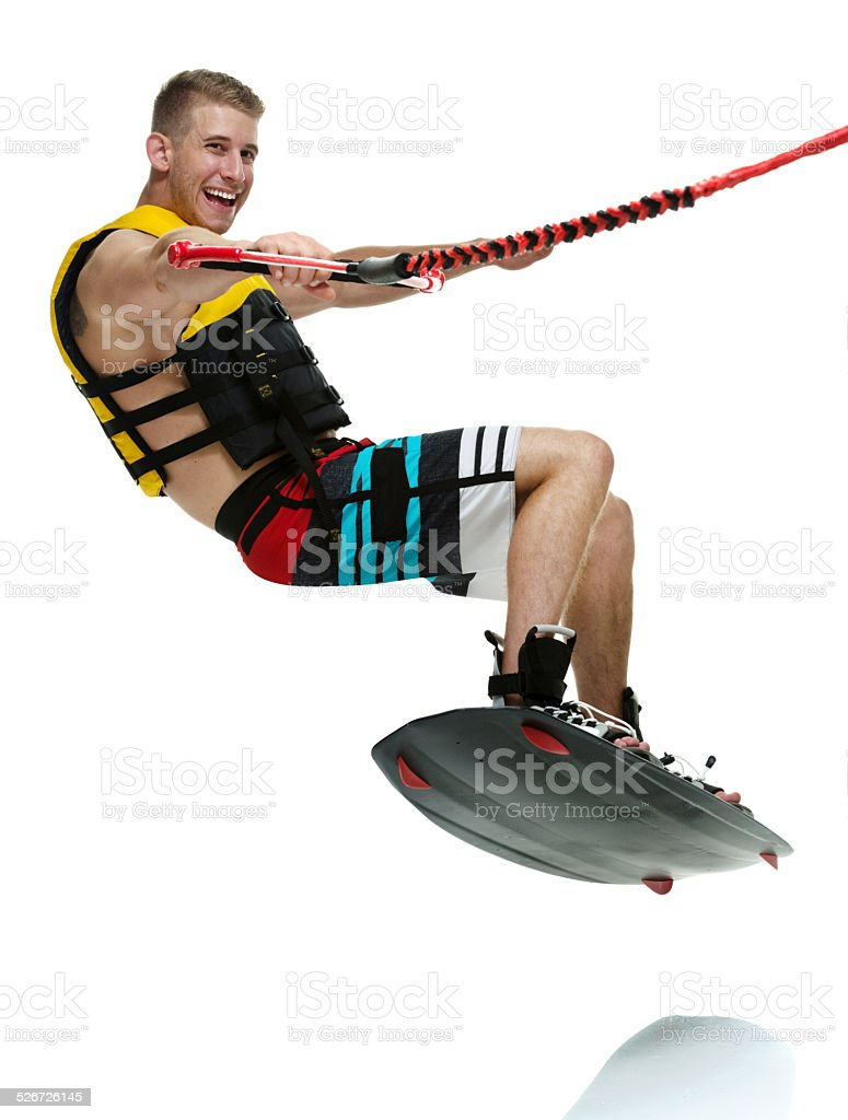 Wakeboarder wakeboarding stock photo