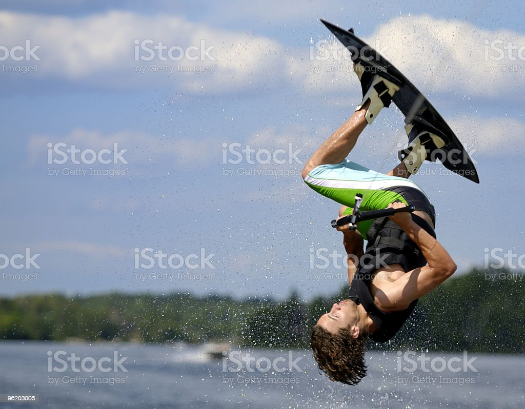 Wakeboarding Flip stock photo