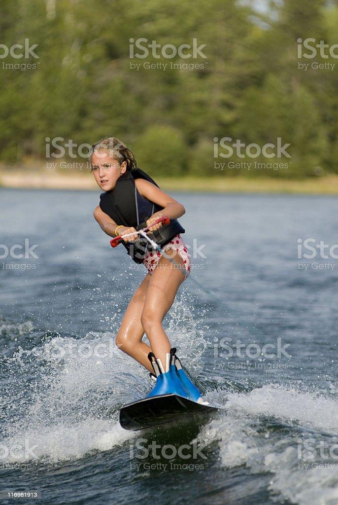 wakeboarding girl royalty-free stock photo