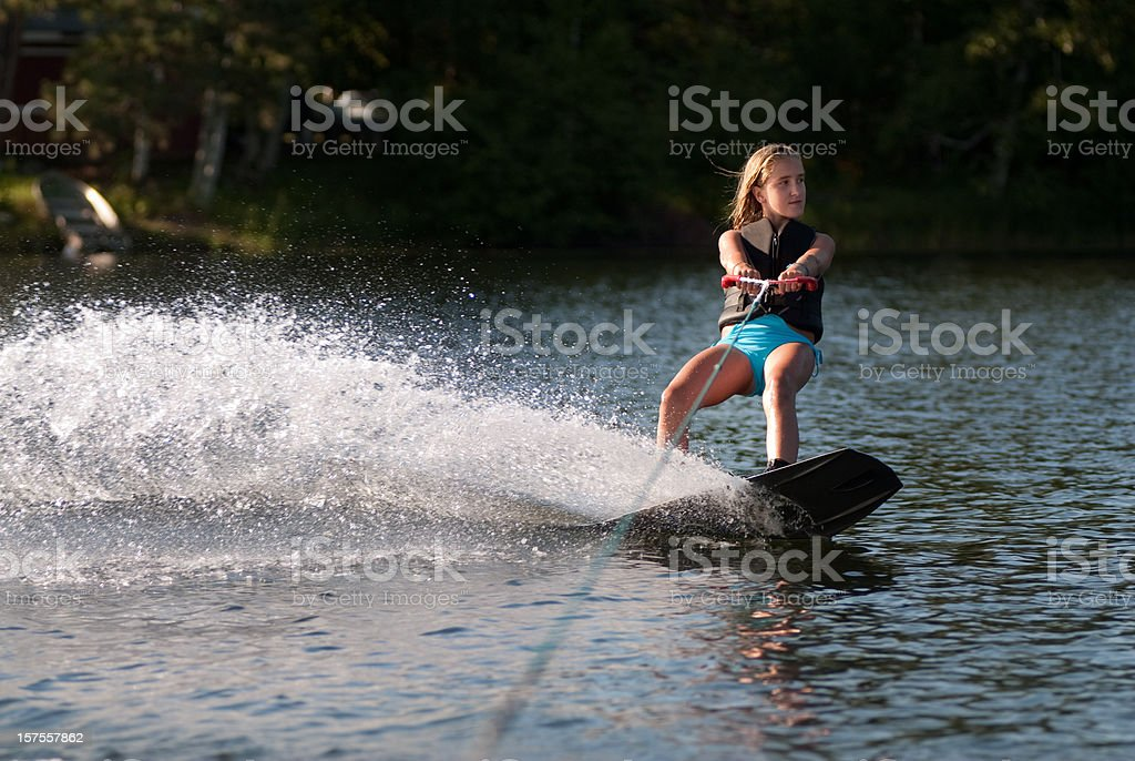 Wakeboarding Girl stock photo