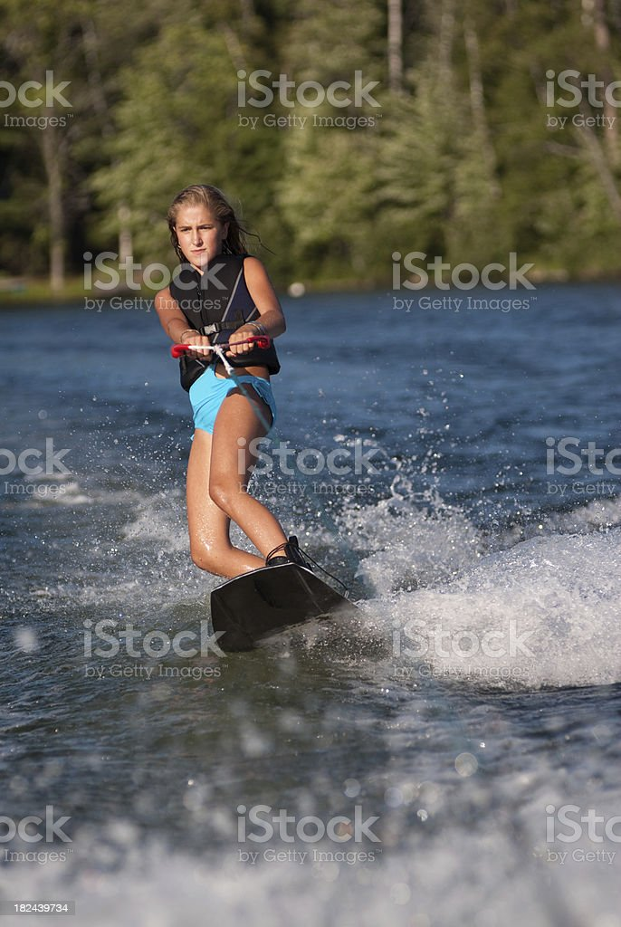 Wakeboarding Girl royalty-free stock photo
