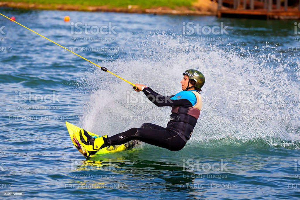 Wakeboarding in Australia stock photo