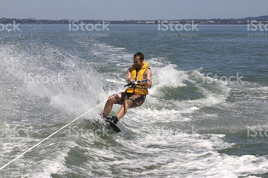 Wakeboarding in New Zealand stock photo