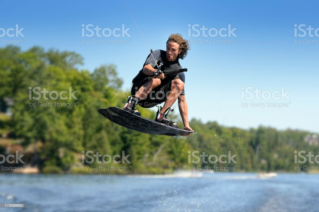 Wakeboarding Jump stock photo