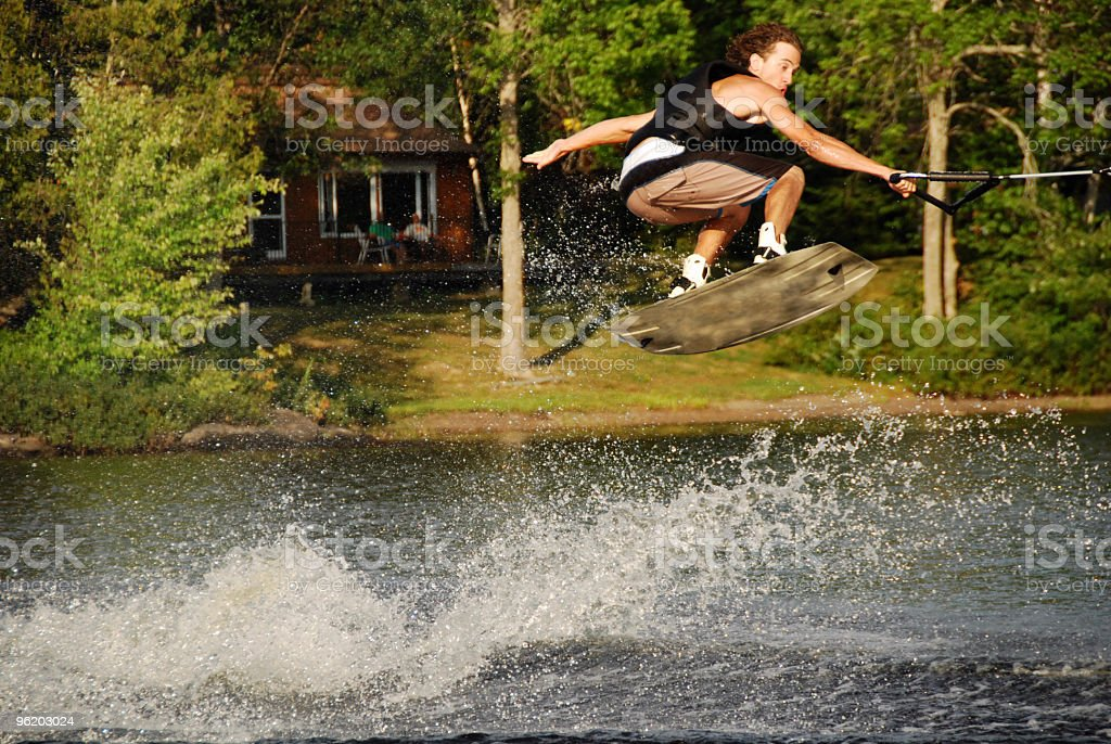 Wakeboarding Jump royalty-free stock photo
