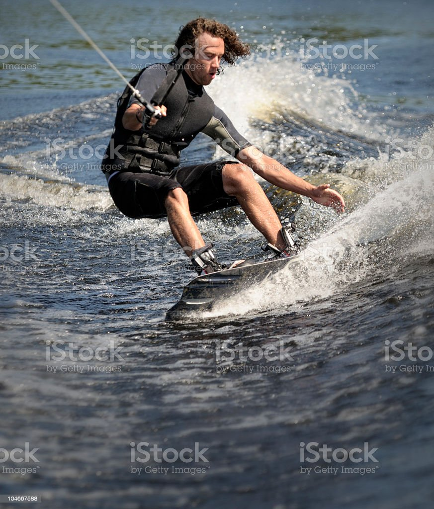 Wakeboarding on Water royalty-free stock photo