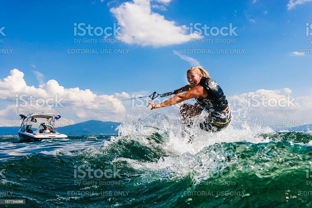 Wakeboarding stock photo