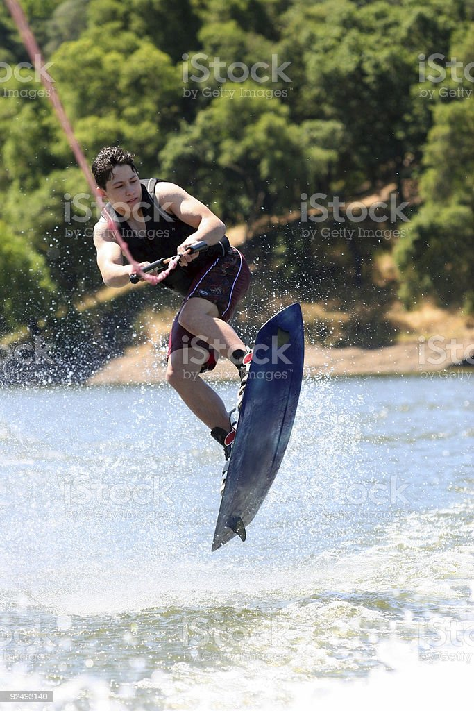 Wakeboarding royalty-free stock photo