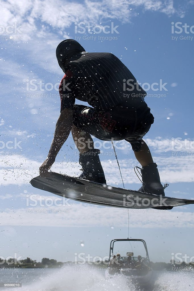 Wakebord jump royalty-free stock photo