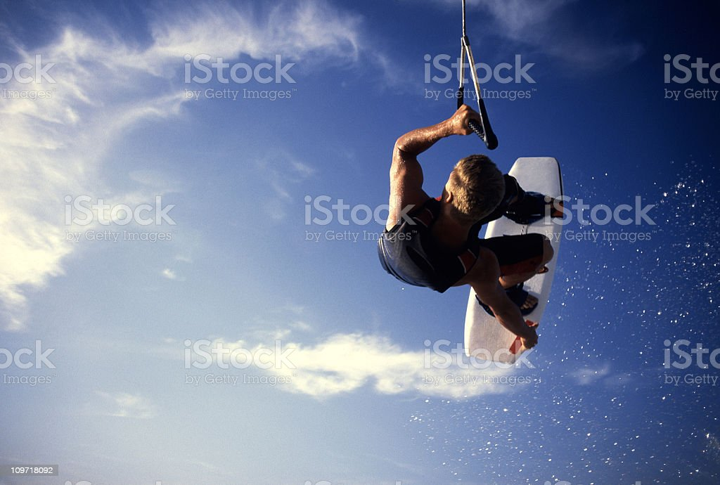 wakerboard air stock photo