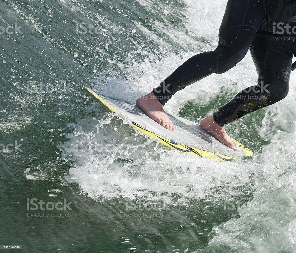 Wakesurfer stock photo