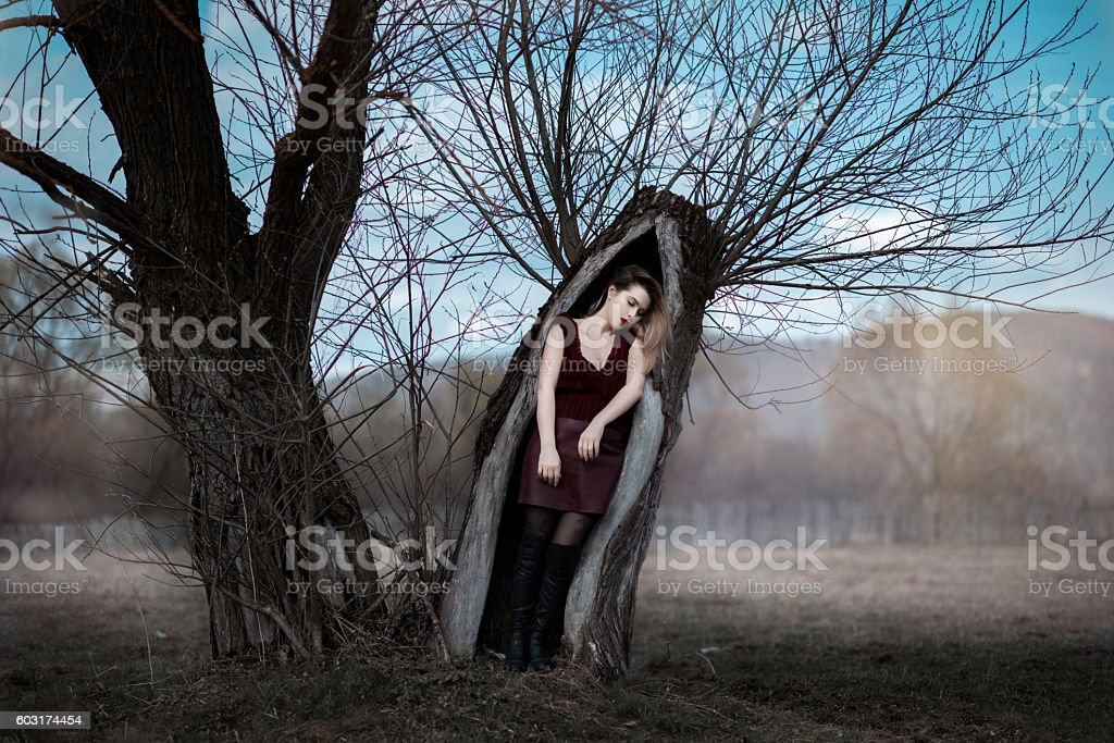 waking up from the death stock photo