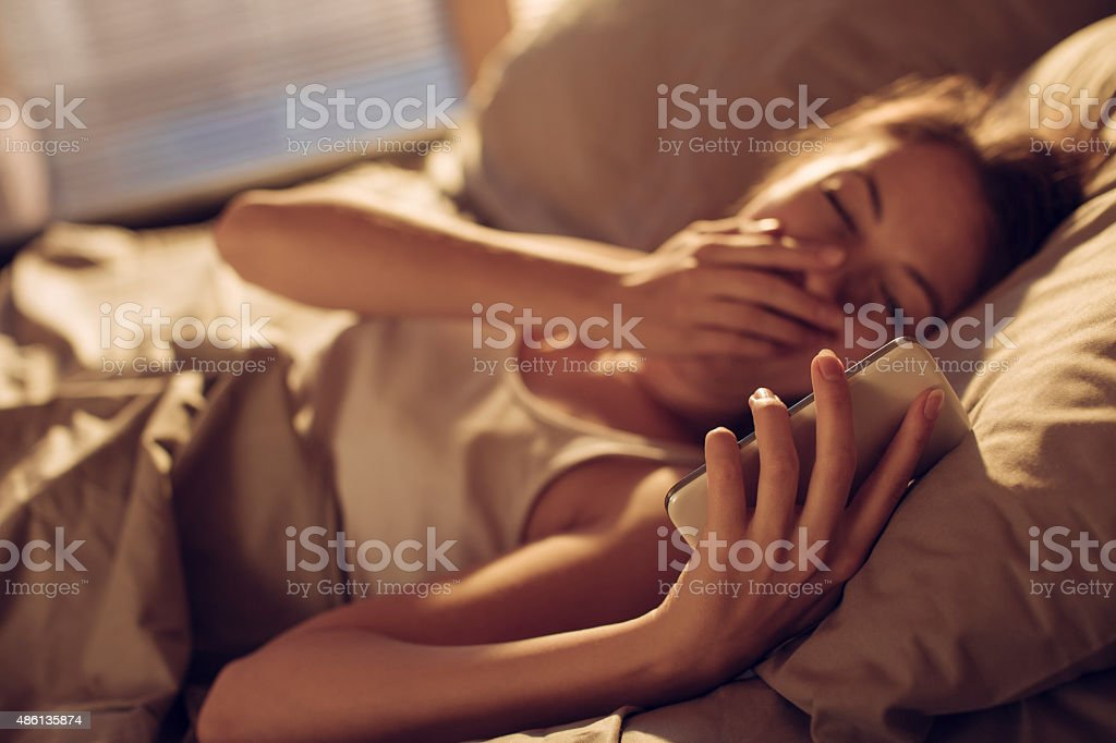 Waking up is hard to do stock photo