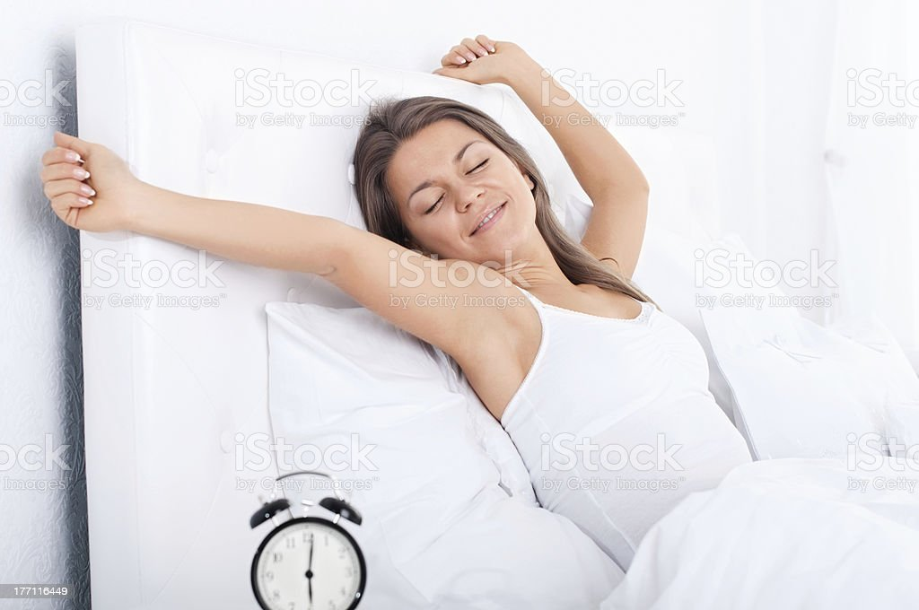 Waking up stock photo