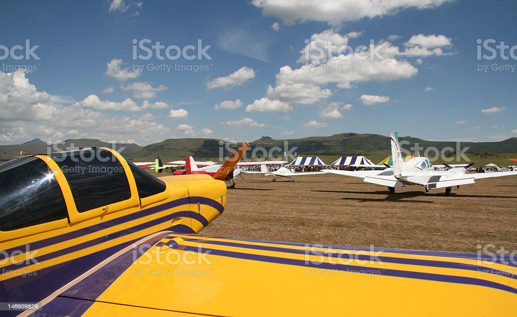 Wakkerstroom airshow stock photo