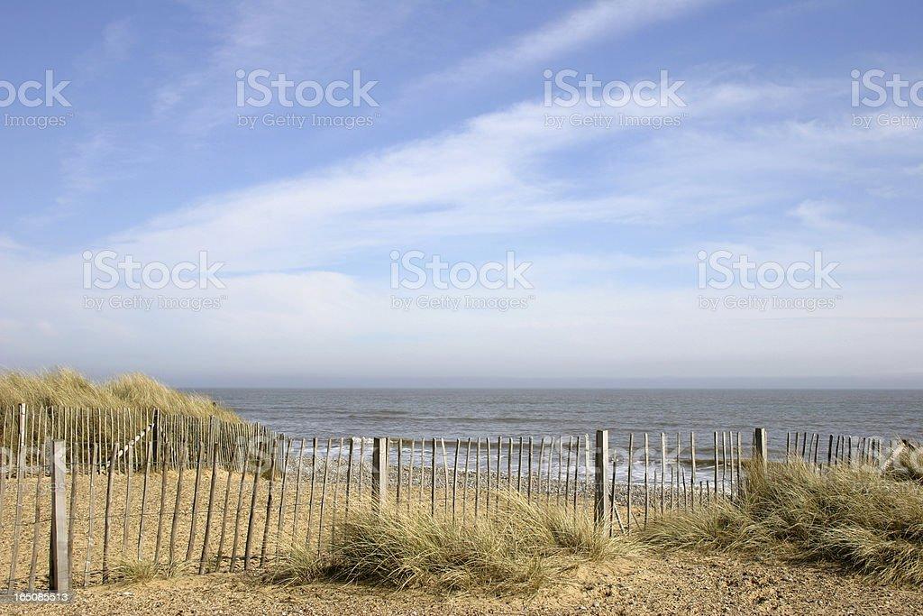 Walberswick beach royalty-free stock photo