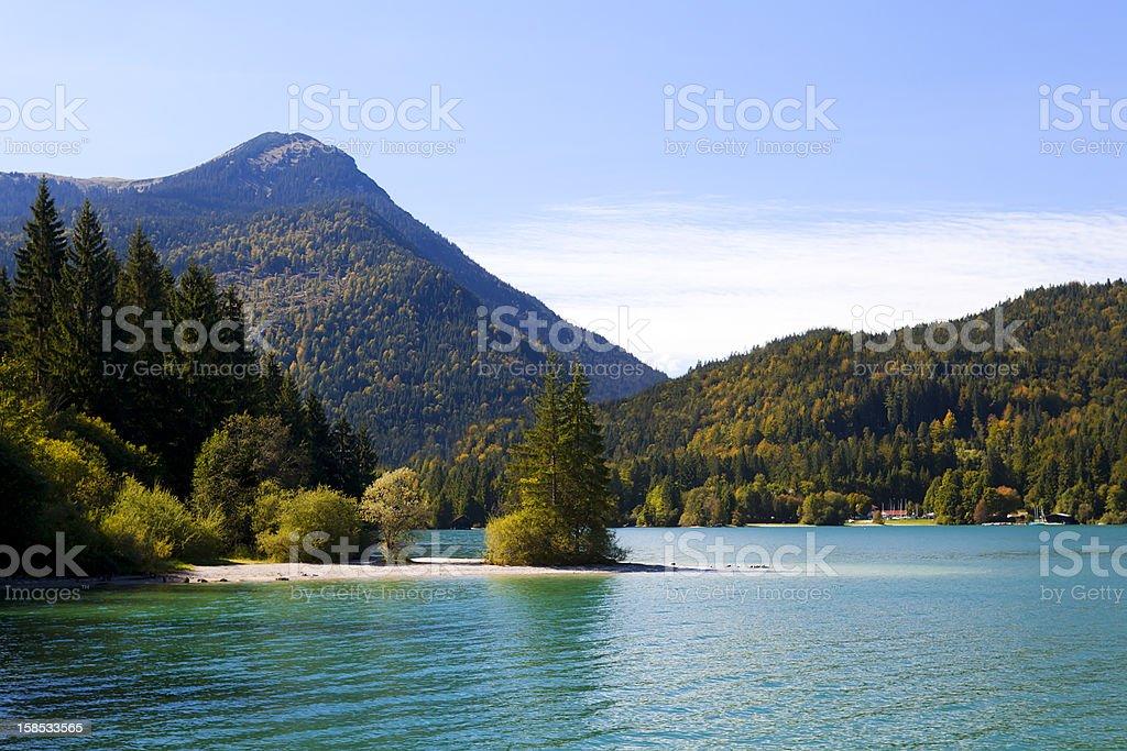 Walchensee in Bavarian Alps, Germany stock photo