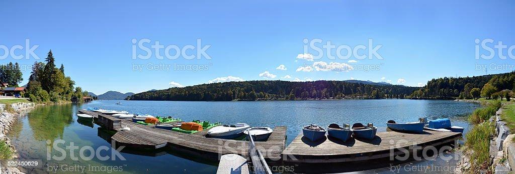 Walchensee - Panorama stock photo