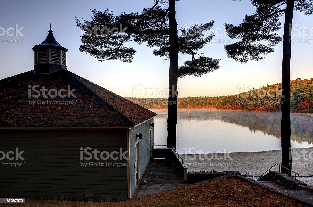 Walden Pond stock photo