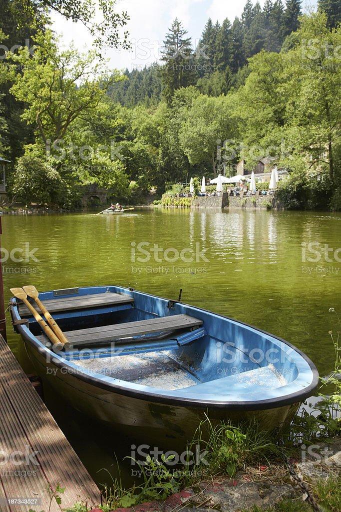 Waldsee in Freiburg stock photo
