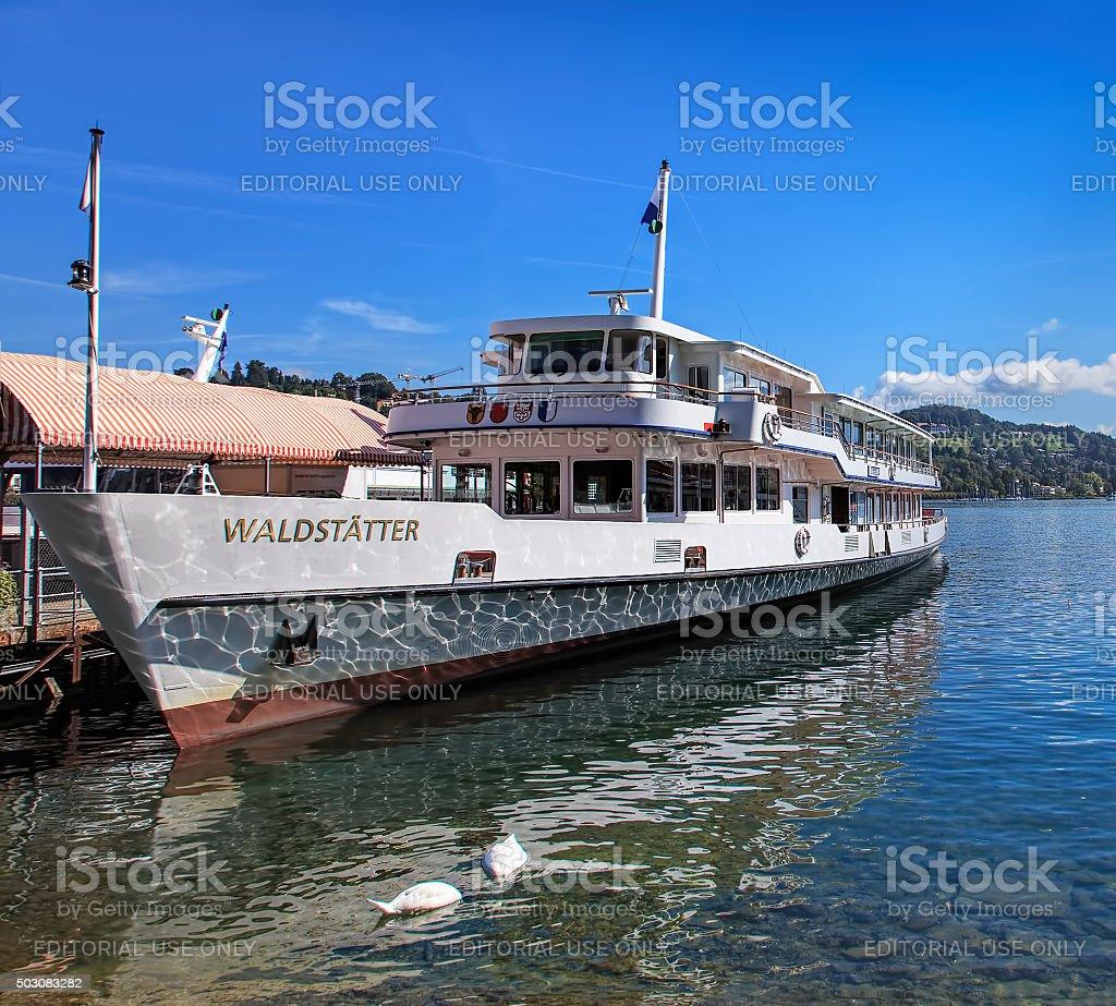 MS Waldstatter on the Lake Lucerne stock photo