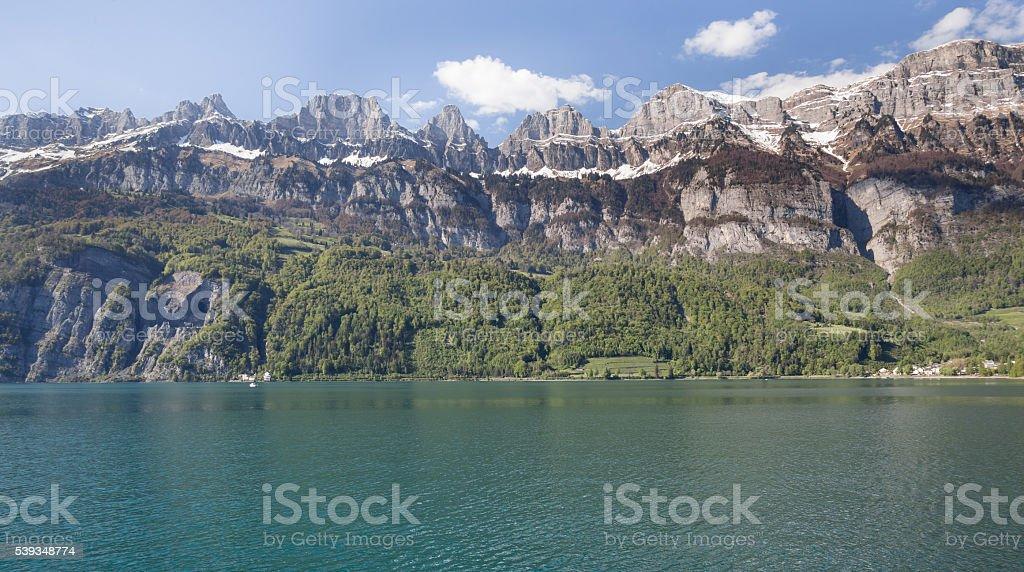 walensee lake switzerland stock photo