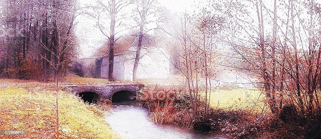 Walers-Trelon Bridge stock photo