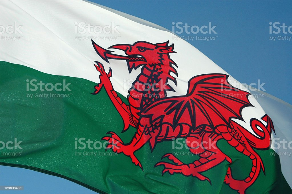 Wales Flag royalty-free stock photo