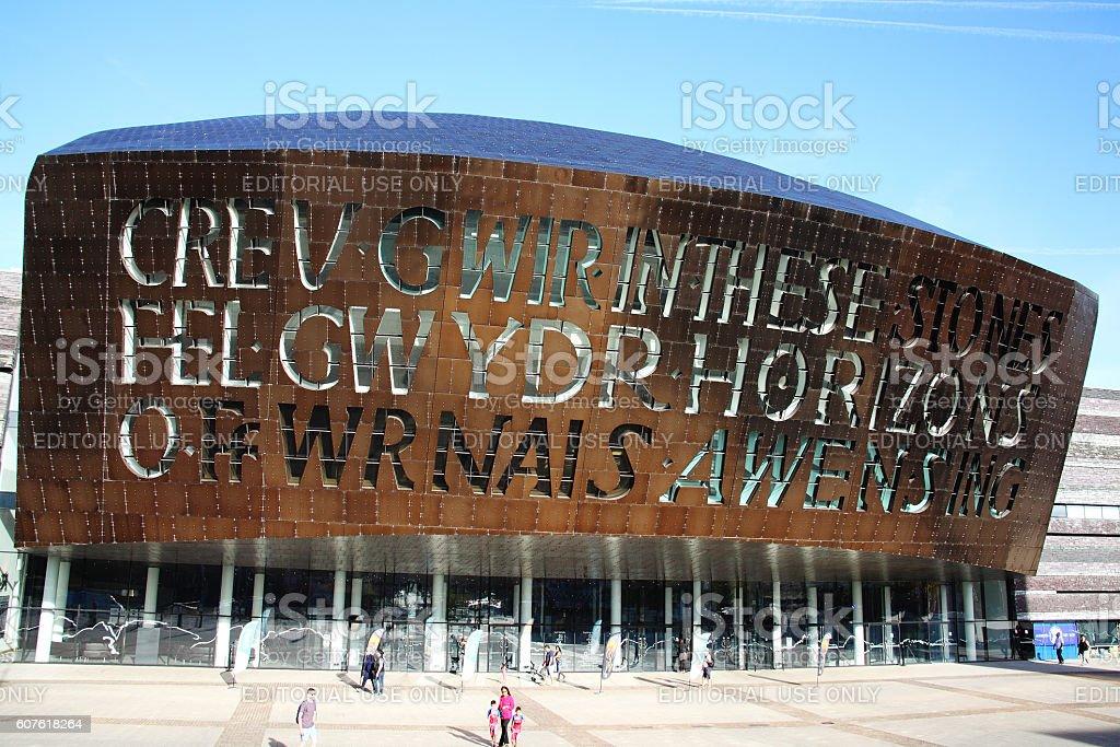 Wales Millennium Centre, Cardiff stock photo