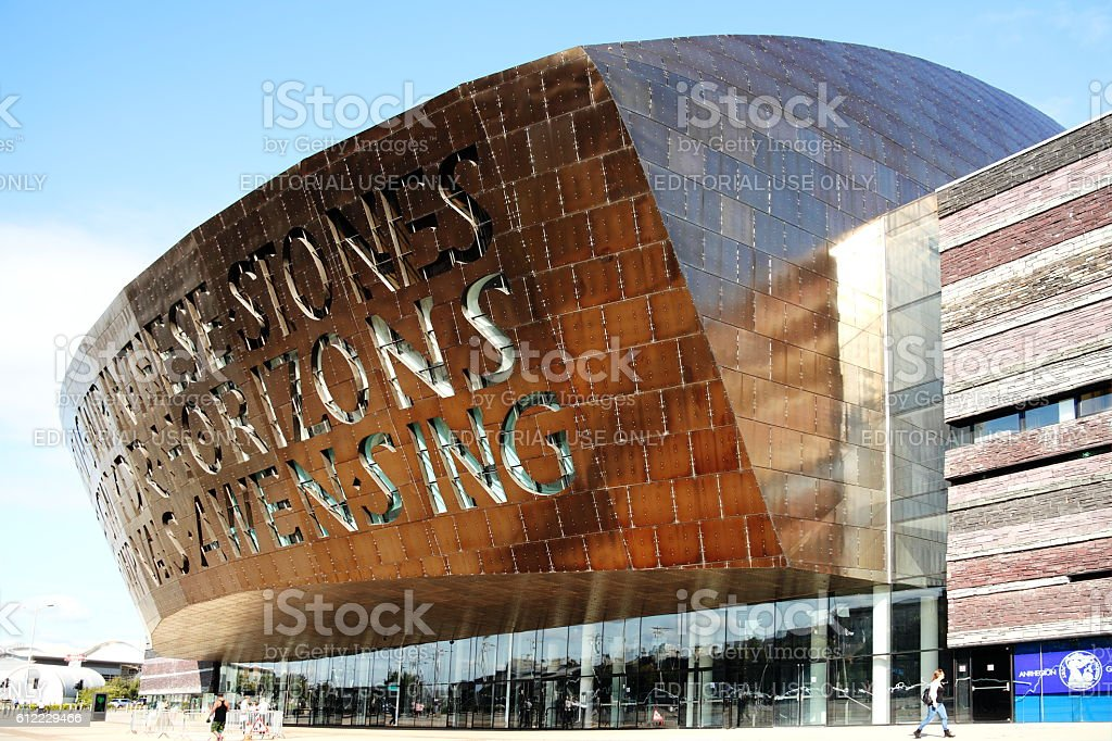 Wales Millennium Centre, Cardiff stock photo