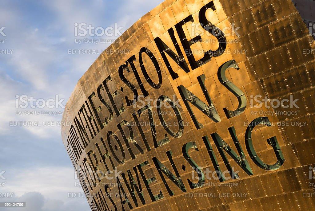 Wales Millennium Centre stock photo