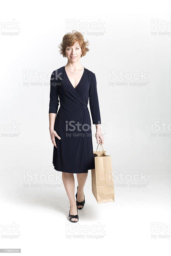 Waling shopper royalty-free stock photo