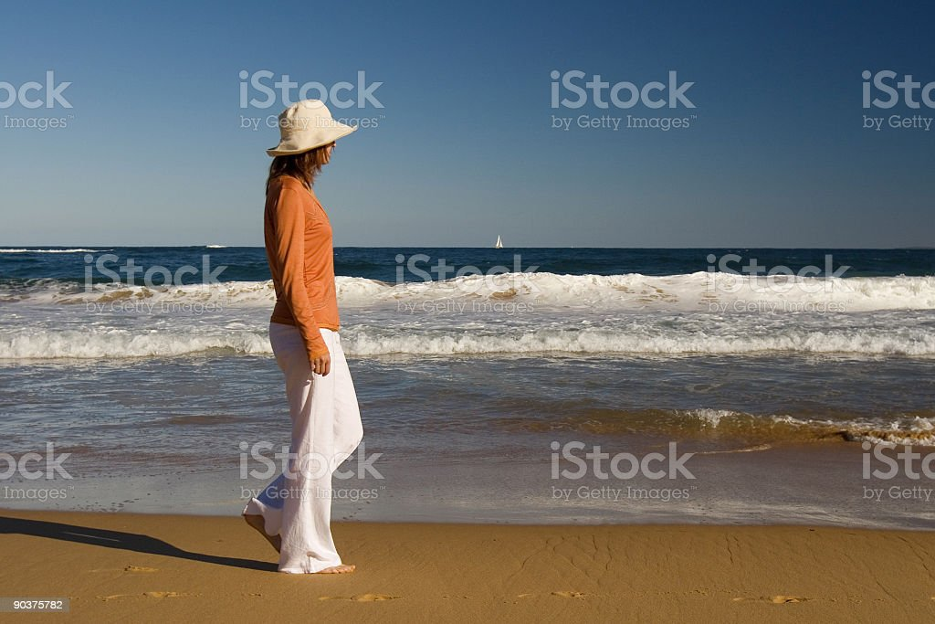 Walk along the beach royalty-free stock photo