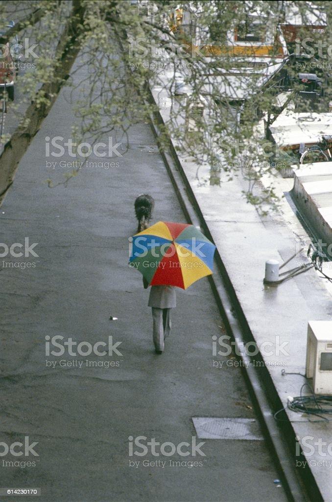 Walk along the Seine shore, Paris stock photo
