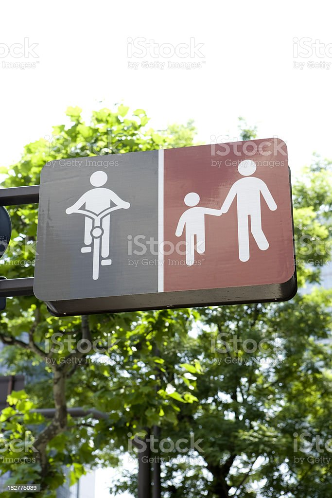 Walk and bike path royalty-free stock photo