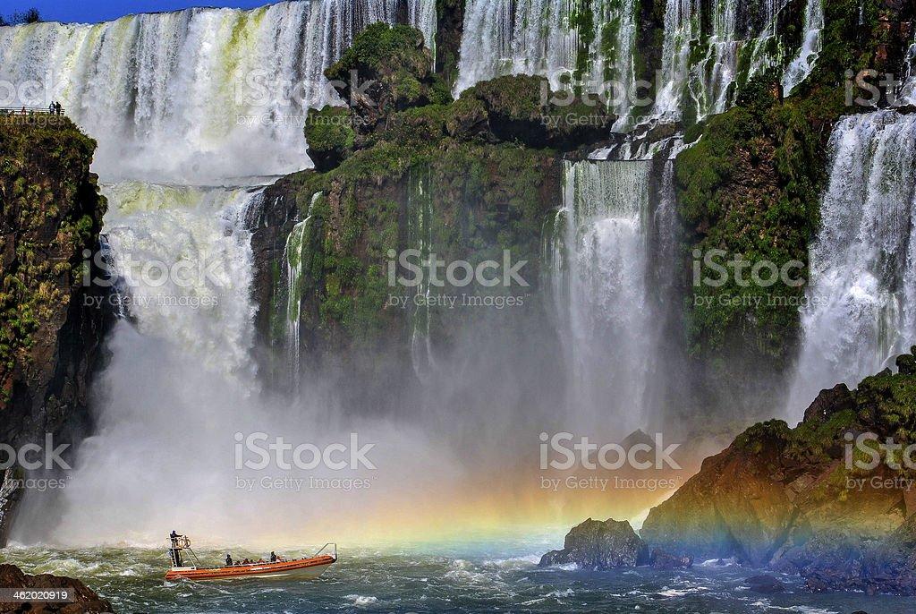 Walk around the falls stock photo