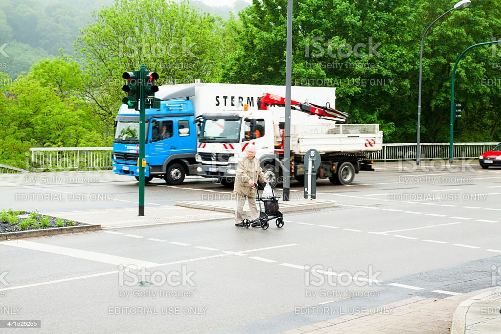 Walk at red light royalty-free stock photo