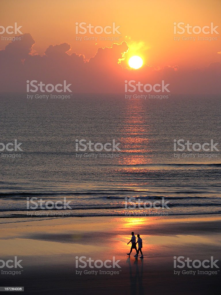 Walk at sunrise royalty-free stock photo