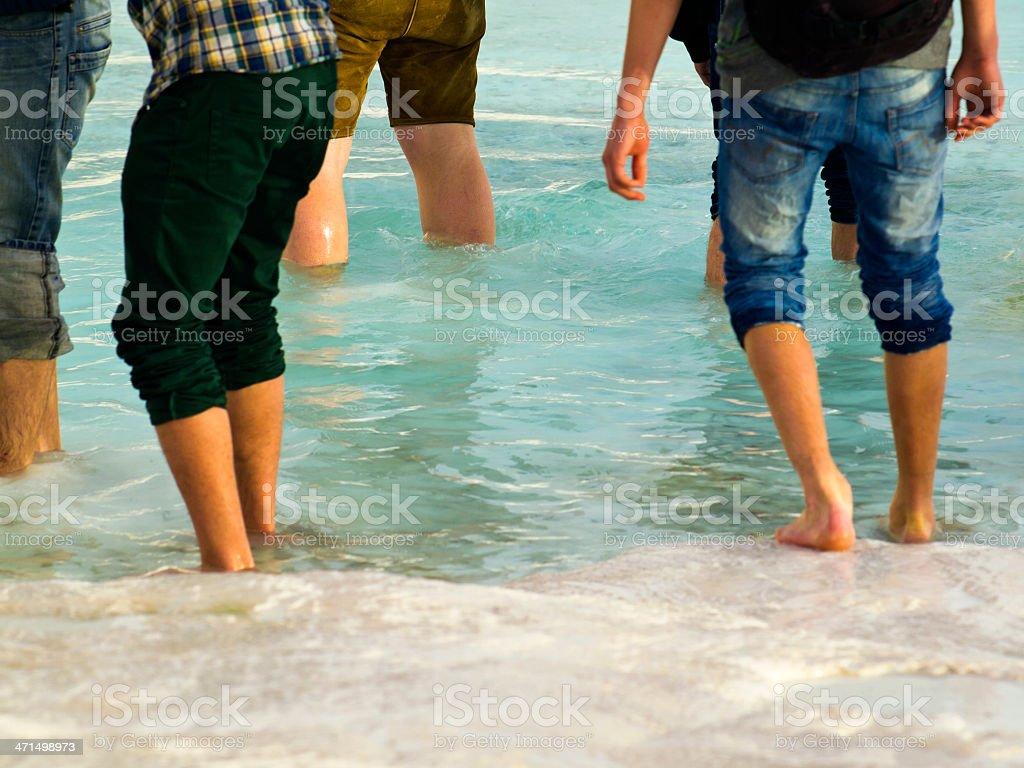 Walk at water stock photo
