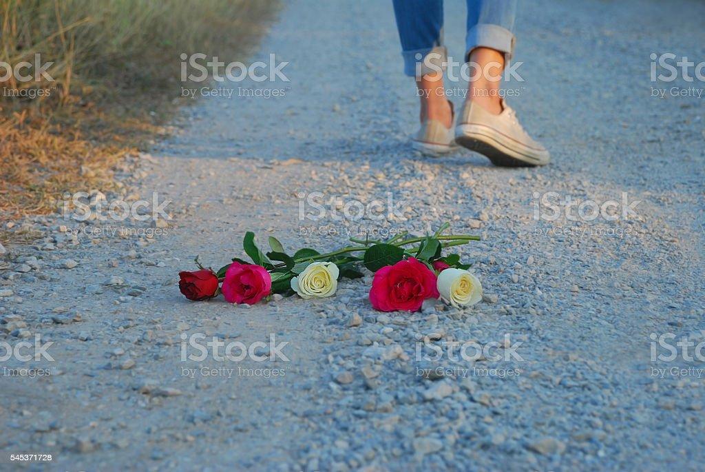 Walk away stock photo