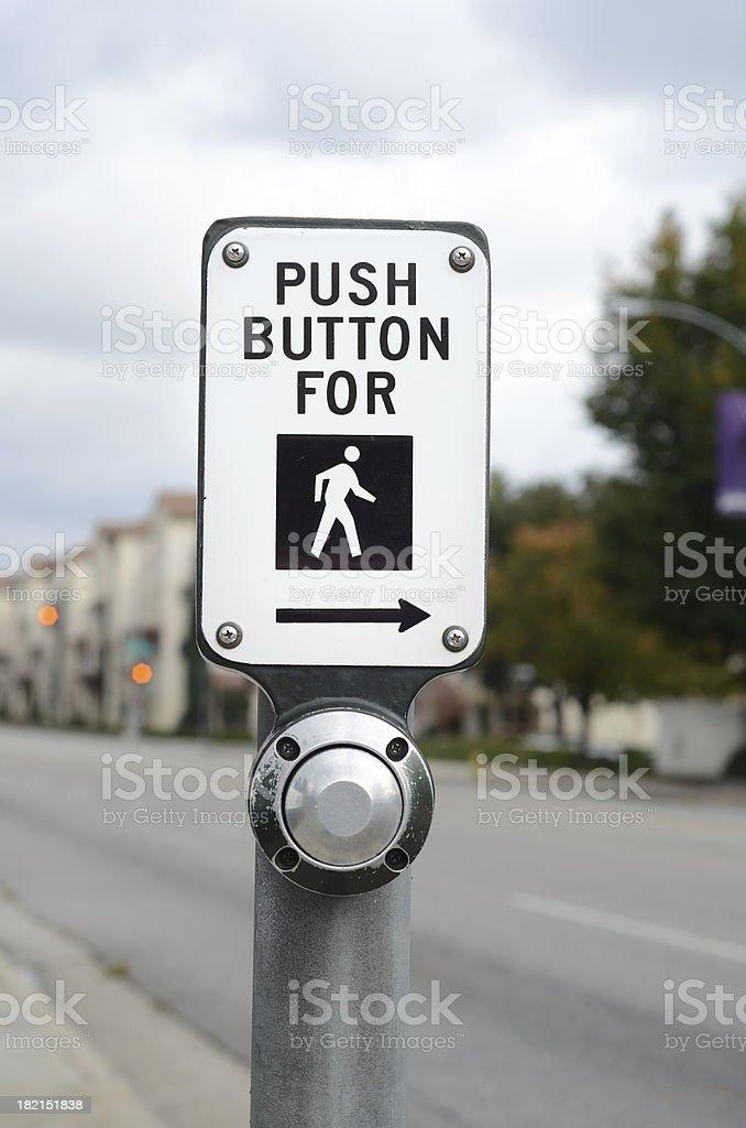 Walk Button stock photo