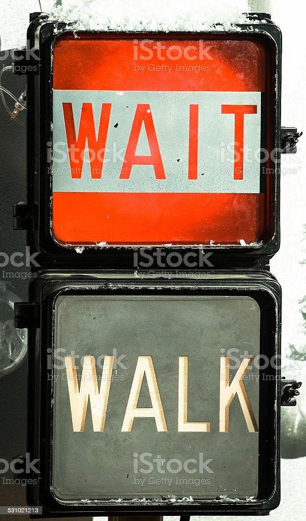 Walk Don't Walk Signal stock photo
