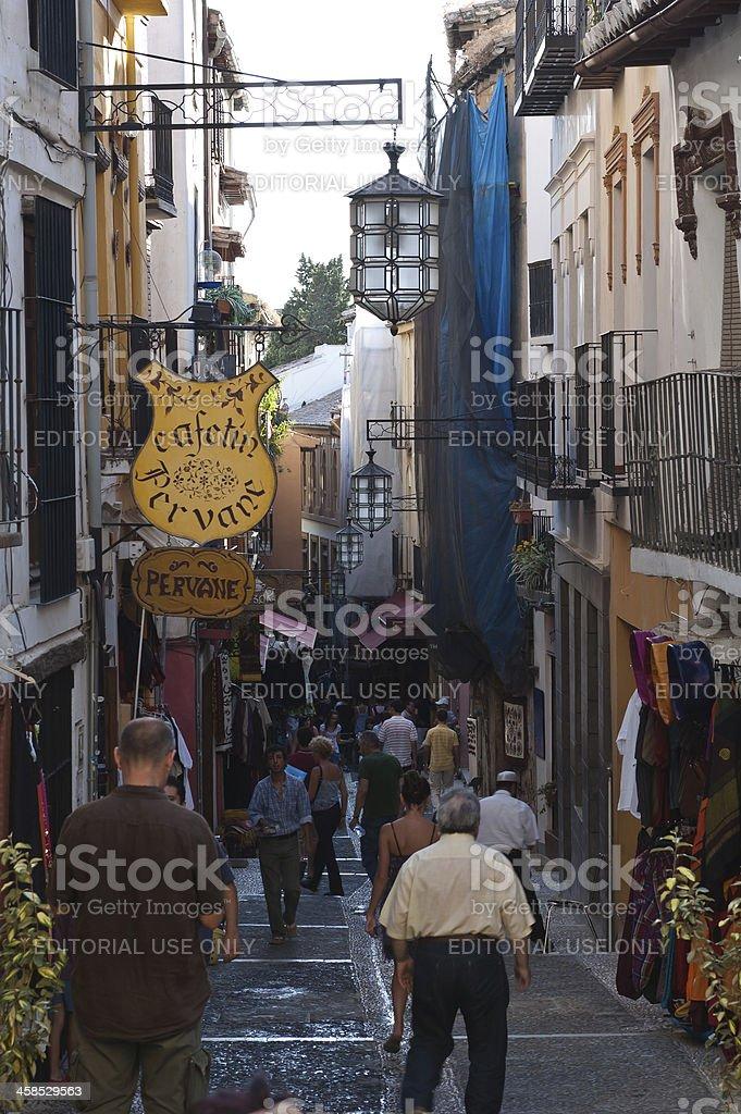 Walk in Albaicin district, Andalucia, Spain stock photo