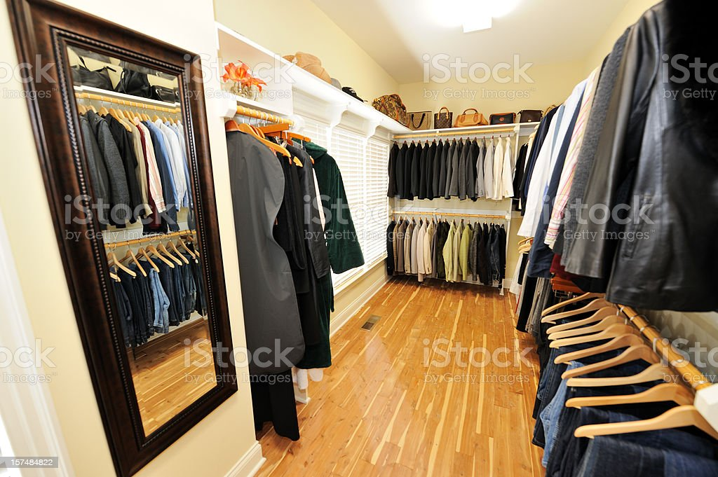 Walk In Closet stock photo