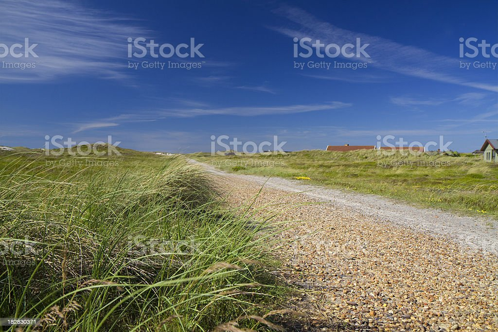 Walk in denmark on North Sea stock photo