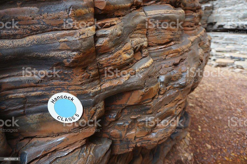 CLASS 5 walk in Hancock Gorge at Karijini National Park stock photo