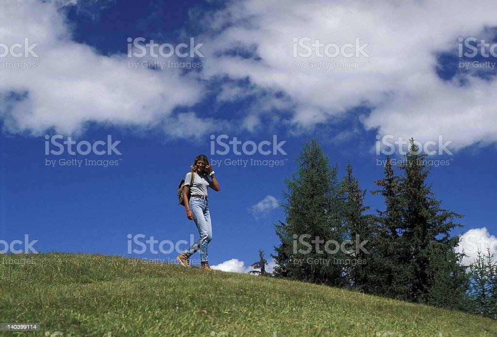 Walk in mountain royalty-free stock photo