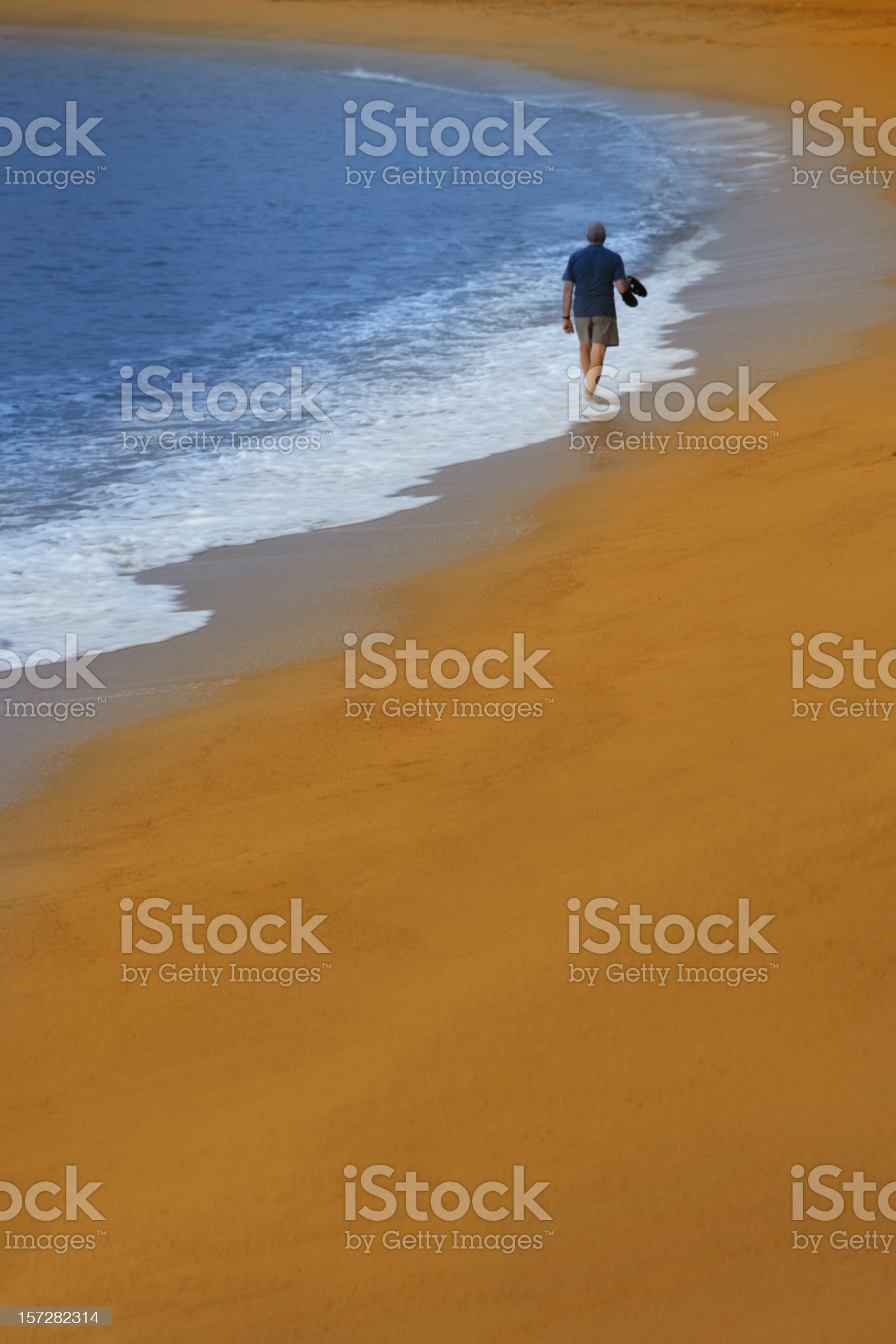Walk in paradise royalty-free stock photo